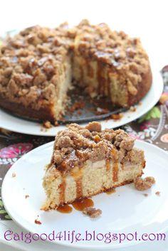 Eat Good 4 Life » Apple and caramel coffee cake
