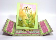 Gate Fold Easel Card - Interesting Idea.