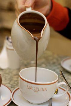 Chocolat chaud, Angelina in Paris - touted to be the best hot chocolate EVER!   ASPEN CREEK TRAVEL - karen@aspencreektravel.com