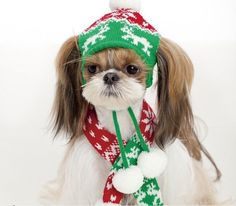 Holiday scarf and hat