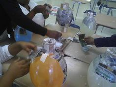 Mrs. Johnson Caucci's Freshman Art Students: Beginning Paper Mache Greek Vases