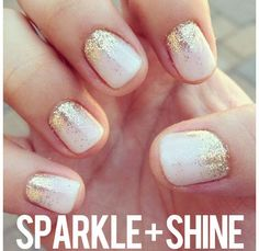 2014 beauty trend to try, sheer nails with a hint of shimmer! #readypac #fit&fresh