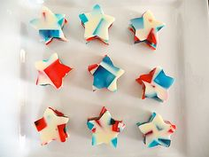 Stained Glass Jello – Red, White & Blue for the 4th of July