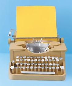 Typewriter made of paper by Matthew Sporzynski for Real Simple