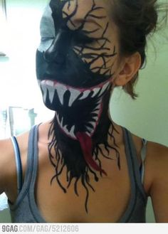 Venom Face Paint....I want to do this