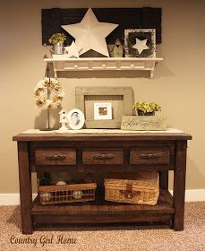 COUNTRY GIRL HOME : sofa table add on..