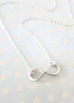 Silver Infinity necklace simple sterling
