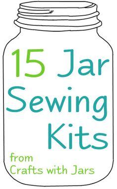 Crafts with Jars: Mason Jar Pin Cushions and Sewing Kits