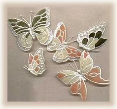 butterfly magnets from plastic bottles