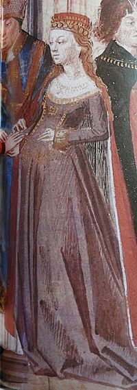 Isabella of Hainault 5 April 1170 – 15 March 1190, Paris) was Queen consort of France - 27th grandmother.  We have the same birthday cool