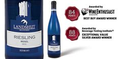 "Landshut Riesling - awarded ""Best Buy Award"" by Wine Enthusiast Magazine and ""Exceptional Value Silver Award"" by the Beverage Testing Institute."