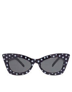polka dot cat eye sunnies | asos