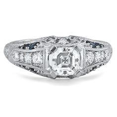 Filigree Diamond Ring #BrilliantEarth
