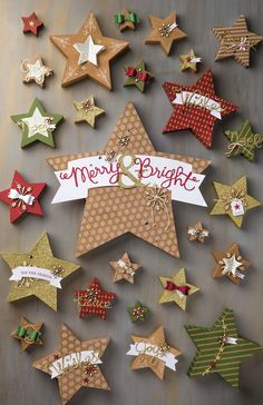 Make all 26 of these stars with the Many Merry Stars Simply Created Kit! http://www.stampinup.com/ECWeb/ProductDetails.aspx?productID=138104