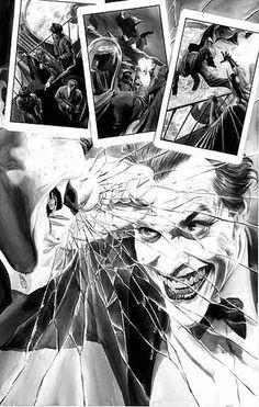 Batman vs The Joker by Alex Ross