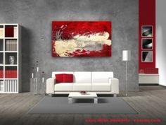 Bilder im Großformat Abstrakt Bild Malerei rot beige - Lebensmanege   kaufen bei Bilder Abstrakte Kunst Auftragsmalerei Wandbilder