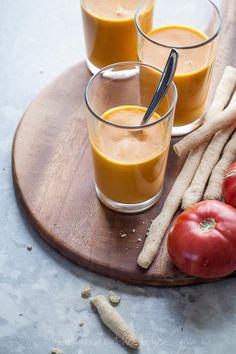 Chilled Double Tomato Soup Recipe (Raw, Vegan, Paleo)