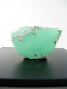 Variscite, a hydrated aluminum phosphate mineral, is relatively rare.