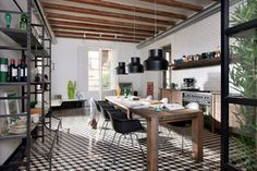 Kitchen of the Week: Industrial and Monochromatic Style in Barcelona