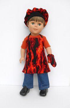 18 Inch Boy Doll Clothes Chef's Set Boy Doll by DonnaDesigned, $20.00  https://www.etsy.com/listing/196055093/18-inch-boy-doll-clothes-chefs-set-boy?ref=shop_home_active_2