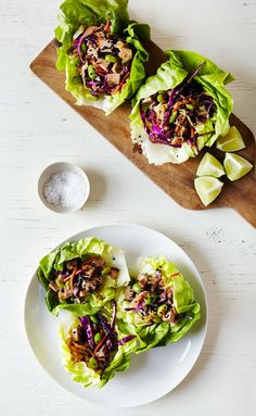 On The Menu: Sesame, Ginger & Tofu Lettuce Cups - Clementine Daily
