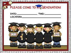 Kindergarten Graduation Invite