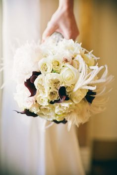 white roses and dark calla lilies