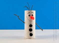 Do you wanna build a snowman? Make this Toilet Paper Roll Olaf the Snowman! Seriously love Frozen crafts like this one! | AllFreeKidsCrafts.com