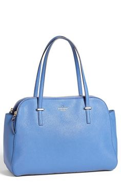 So fresh! kate spade new york blue leather tote