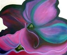 georgia okeeff, inspir art, georgiaokeeff, georgia okeefe, color, swirl, okeef paint, petunia, flower