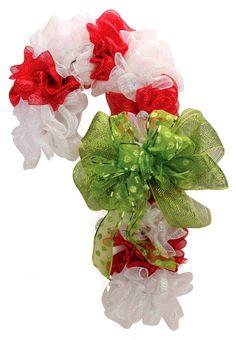 Nicole™ Crafts Deco Mesh Candy Cane  #christmas #wreath #decomesh
