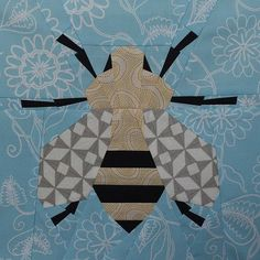 Paper pieced spring honey bee