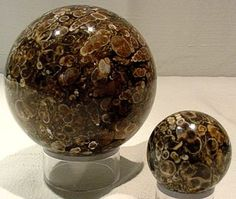 Spheres of fossil agate.