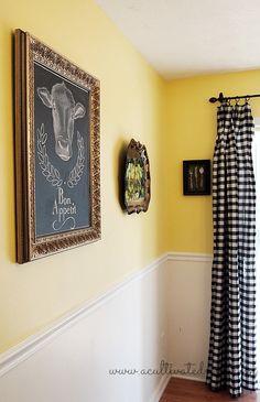 A Cultivated Nest | DIY Dining room chalkboard art #chalkboard