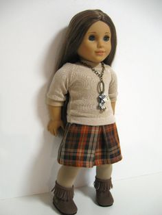 American girl doll clothes    Practical Plaid by 123MULBERRYSTREET