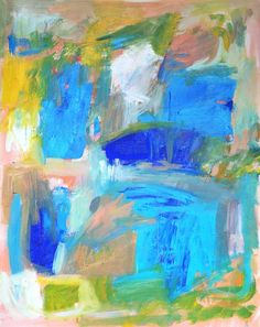 Windows - original #abstract #painting by Jenny Vorwaller