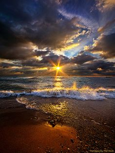 ~~Ebb and Flow ~ spectacular sky and dramatic ocean by Phil-Koch~~