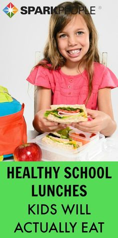 Healthy school lunches kids will actually eat! Will definitely have to try some of these with my picky kids! | via @SparkPeople #lunch #healthy #kids #kidfriendly #backtoschool
