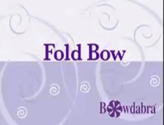 How to fold a wreath bow video tutorial