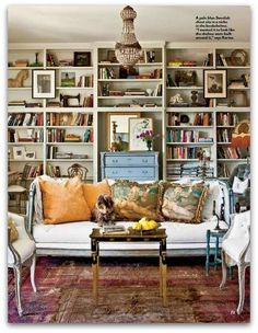 Again, I love that bookshelf!