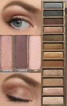 Using Urban Decay Naked palette, perfecto para un maquillaje de diario