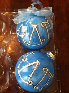 Alpha Delta Pi Christmas ornaments