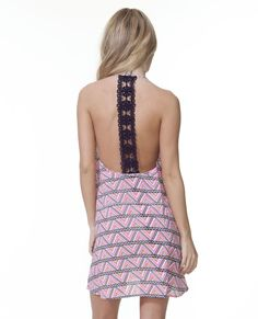 Obsessed with the black lace detail on the Caravan Cover Up!