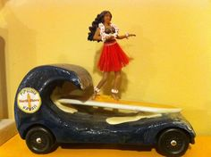 Pinewood Derby car ~ Surfing Girl