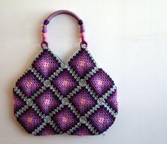 Patroon tas met vierkanten