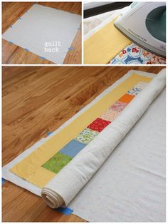 Intro to Quilting 101- great tutorial on basting. Always good to see different ways to do something.