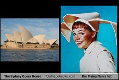 """The Sydney Opera House TotallyLooksLike.com the  Flying Nun's hat."" by jlgrand62"