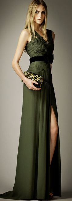 Burberry Silk draped dress