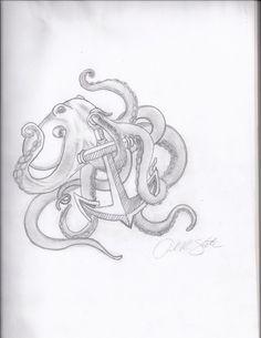 Octopus tattoo sketch by stanAM on deviantART