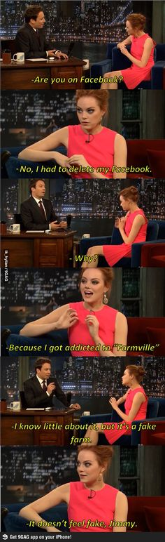 Why Emma Stone Quit Facebook..i absolutely love her
